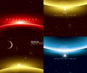 Three brilliant dynamic effects vector background set