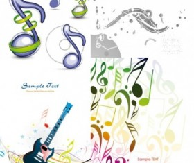 Exquisite musical elements background Illustration vector