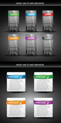 Web Interface module design vector