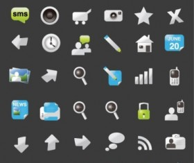 Website element icons web design vector material