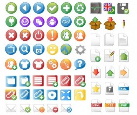 Web design vector icons free material