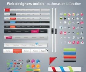 Web designers toolkit vector material 02