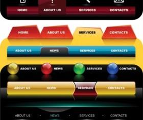 Exquisite website navigation menu vector graphics