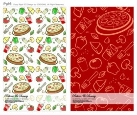 Cute background series vector 01