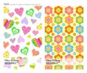 Cute background series vector 03