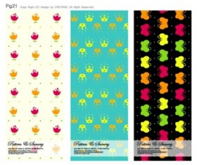 Cute background series vector 04