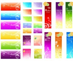 Dantasy styles banners with cards vector