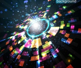 abstract technology background art vector 03