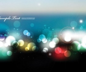 Multicolor blurs background with light dot vector