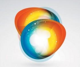 Brilliant web colorful background vector set 04