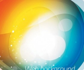 Brilliant web colorful background vector set 01