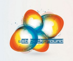 Brilliant web colorful background vector set 02