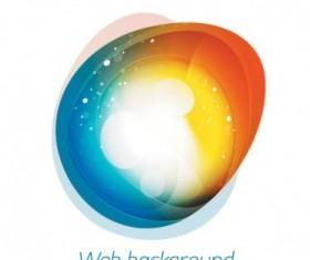 Brilliant web colorful background vector set 03
