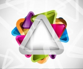 Colored Triangle vector abstract background