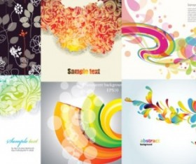 Abstract floral art background graphics vector