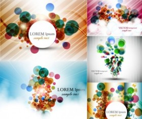 Colorful circle with abstract background vector