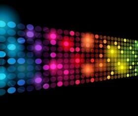 Light dot neon background vector material 01
