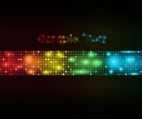 Light dot neon background vector material 02