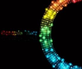 Light dot neon background vector material 03