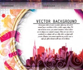Abstract background with city vector material