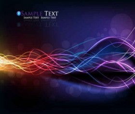 Colorful streamer background design vector
