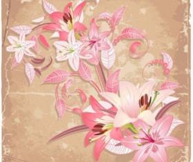 Beautiful flowers background art vector 01