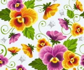 Beautiful flowers background art vector 02