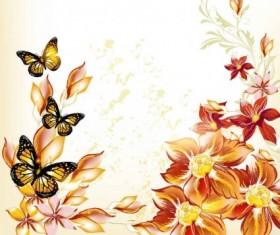 Beautiful flowers background art vector 03