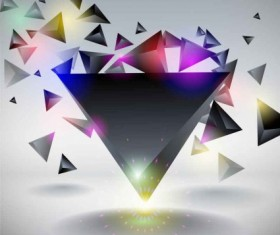 3D triangle abstract vector background