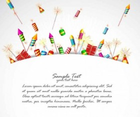 Holiday colorful fireworks vector material