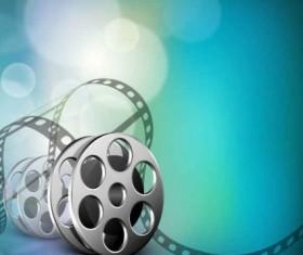 Creative fantasy film background vector