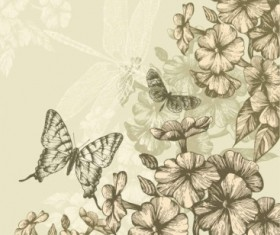 Classic hand painting background vector 01