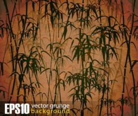 Vintage bamboo forest background vector 02