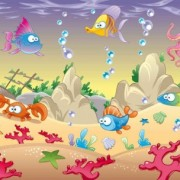 Link toCartoon marine animals background vectors 01