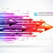 Link toColorful arrow background set vector