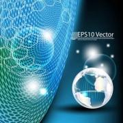 Link toGlobal technology background vector 01