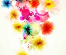 Refreshing flowers background art vector 01