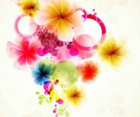 Refreshing flowers background art vector 02