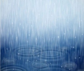 Raindrops with water blue background vector