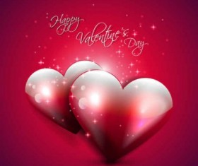 Happy valentine day red backgrounds vector