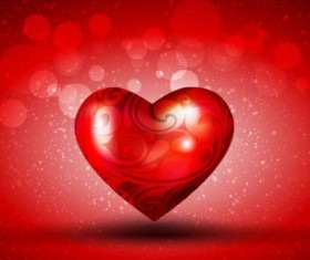 Romantic heart valentine day background vector