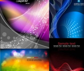 Fashion abstract background vectors material set