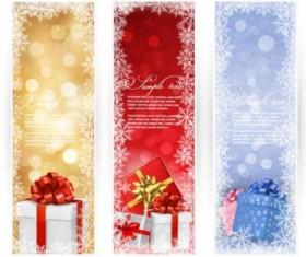 Vector christmas gift banners graphics