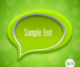 Speech bubbles with modern background vector design 01