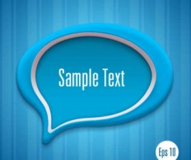 Speech bubbles with modern background vector design 02