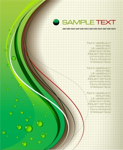 green grid backgroundwith water vector