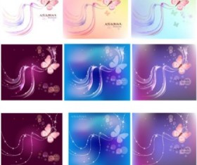 Butterfly and fantasy background vectors