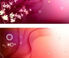 Fantasy flower and dynamic lines background vector