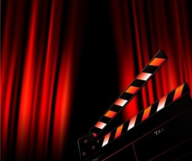 Characters in film design elements background vector