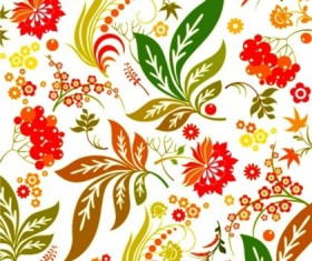 Brilliant flower design pattern seamless vectors
